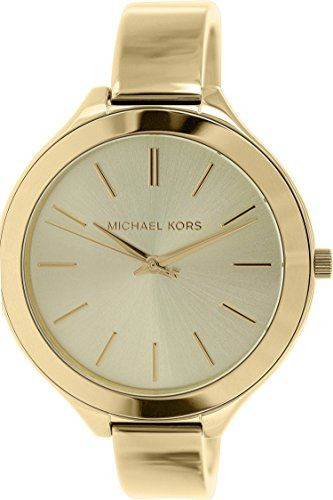 Michael Kors Womens Slim Runway GoldTone Watch MK3275 ** Click on the image for ...