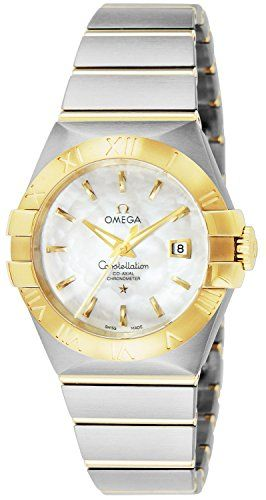 Omega Constellation Chronometer Mother of Pearl Dial Steel and 18kt Yellow Gold ...