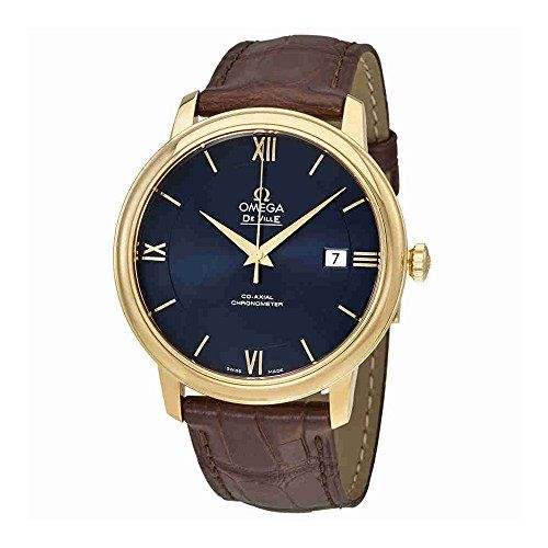 Omega De Ville Prestige Co-Axial Automatic Blue Dial Unisex Watch 424.53.40.20.0...