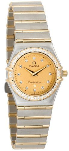 Omega Womens 12771500 Constellation Quartz Small Diamond Accented Watch * You ca...