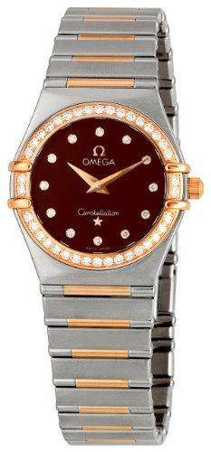 Omega Womens 13586000 Constellation 95 Diamond Bezel Watch * Details can be foun...