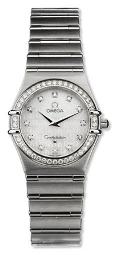 Omega Womens 14587500 Constellation Quartz Small Diamond Watch -- Click on the i...