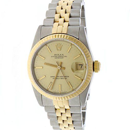 Rolex Datejust 2-Tone Original Champagne Stick Dial 31mm Jubilee Watch 68273 ***...