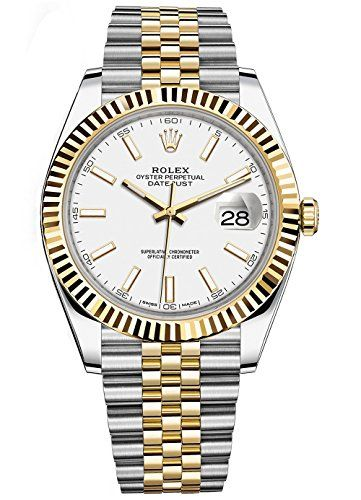 Rolex Datejust 41 Stainless Steel and 18K Yellow Gold Jubilee Watch White Dial 1...