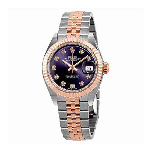 Rolex Lady-Datejust Aubergine Diamond Dial Automatic Ladies Watch 279171OBDJ ** ...