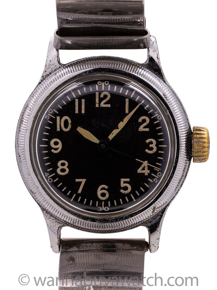 Elgin A-11 U.S. Army circa WWII - Elgin A-11 WW II era U.S. Military issue watch...