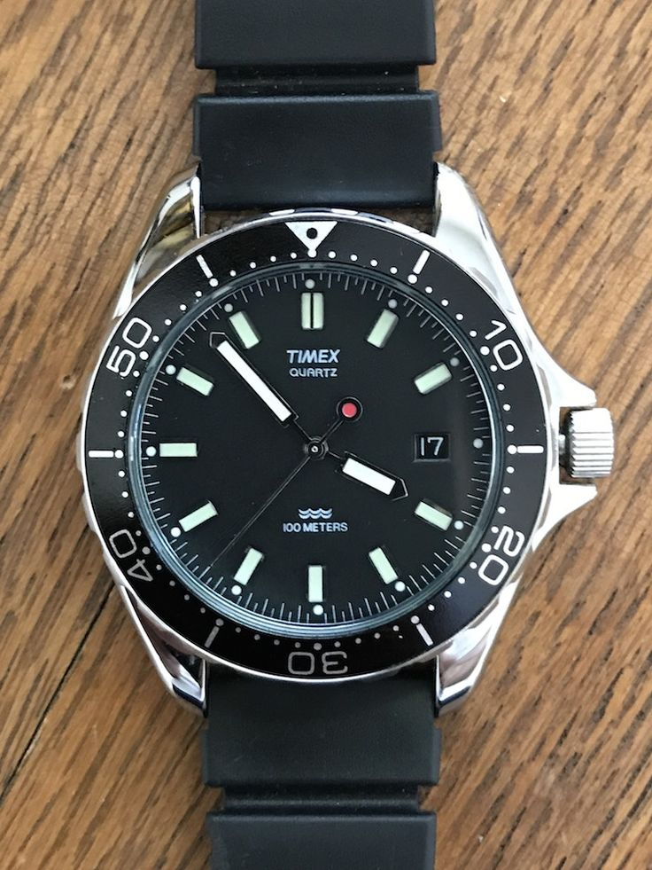 For Sale: Vintage Timex Red Dot Quartz Diver (newoldstockwatche...)