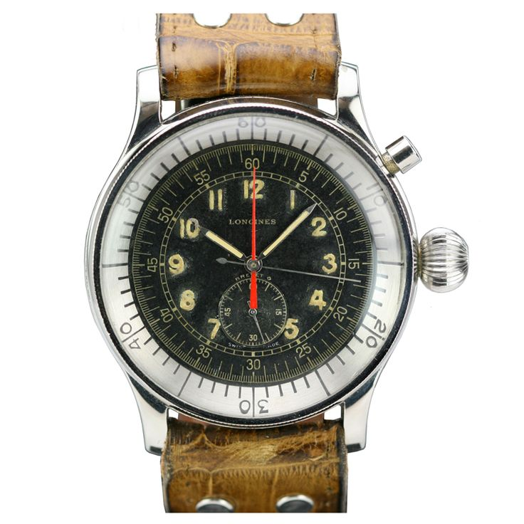 Longines Stainless Steel Single-Button Chronograph circa 1950s