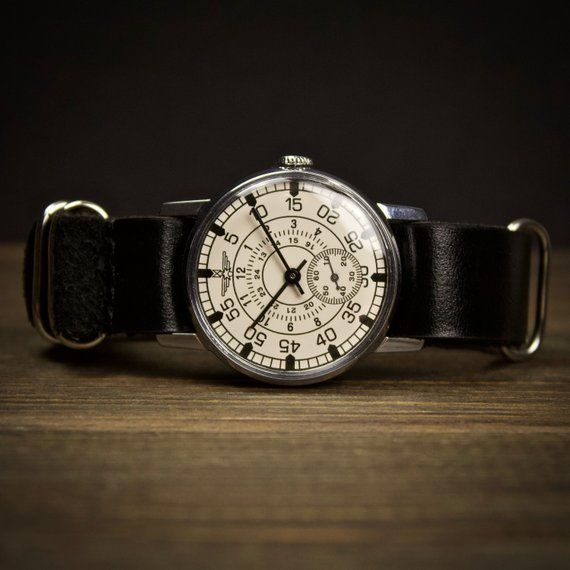 Mechanical vintage soviet watch Aviator. Watches for men, mens watch, Russian wa...
