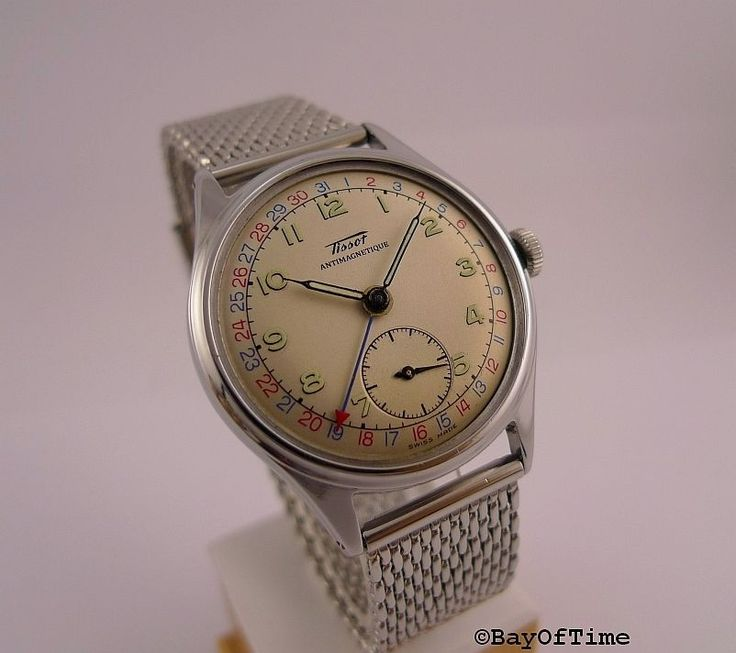 Rare 1947 steel vintage TISSOT POINTER DATE watch NO RESERVE! | Jewellery & Watc...