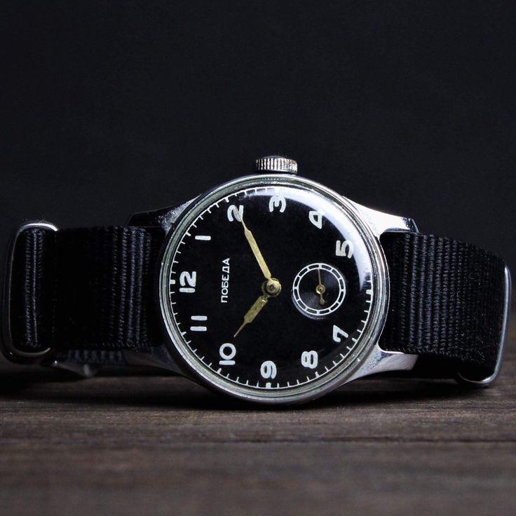 "Very rare wrist watch. Vintage watch ""Pobeda"" Years: 50s."