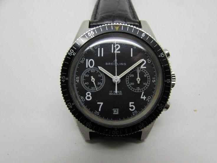 Vintage Breitling Manual 2 Chronograph With date Venus 188 Men's Wristwatch