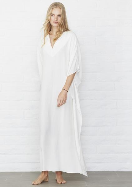 Eco Friendly Caftan -White Maxi Caftan Dress