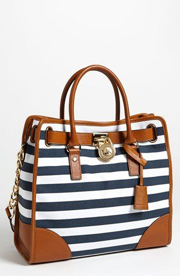 lusting MICHAEL Michael Kors 'Hamilton - Large' Canvas Tote | Nordstrom