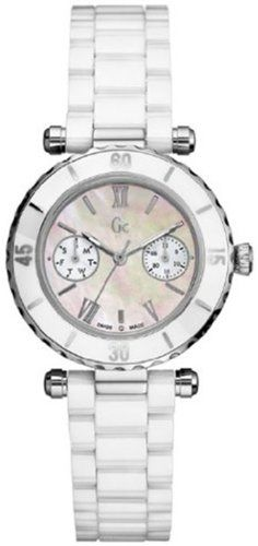 GUESS GC DIVER CHIC White Ceramic Timepiece -- Click image for more details. (Th...
