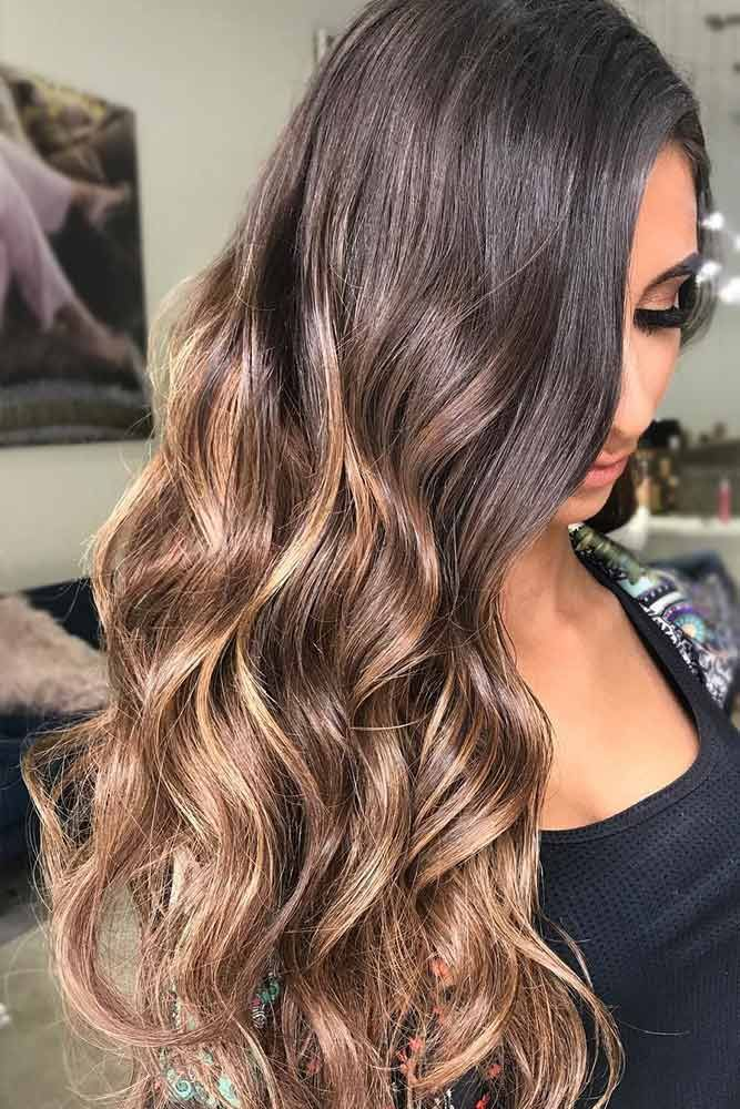 Balayage For Brunette Hair ❤️ Brunette hair often gets a bad rap. However, t...