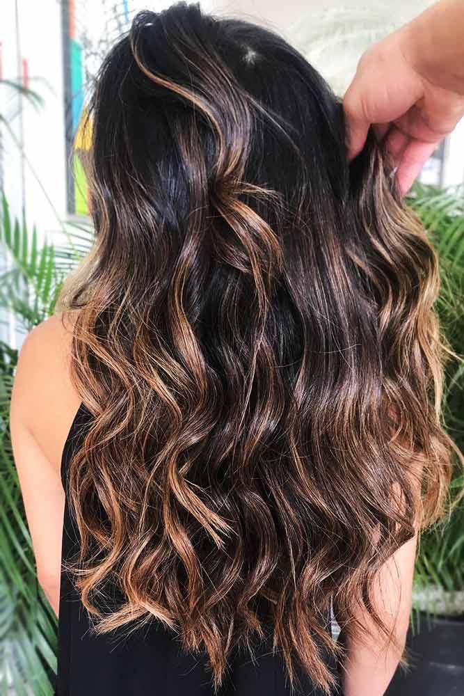Beige Highlights On Dark Hair #brunette #highlights ❤️ Upgrade your plain br...