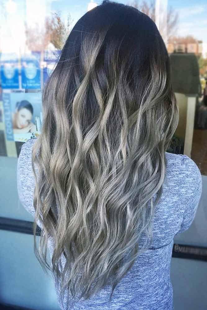 Black Ash Brown ❤️ See light brown hair color variations that suit dark, med...