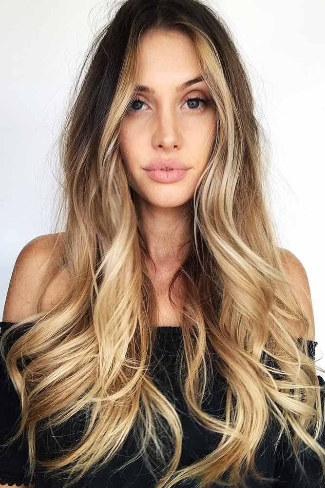 Blended Blonde Face Framing Ombre On Dark Hair #brunette #ombre ❤️ Upgrade y...