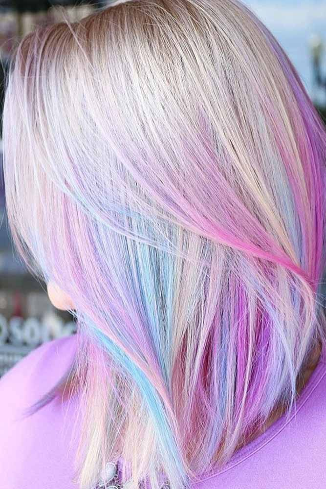 Blonde Unicorn #unicornhair #blondehair ❤️ Unicorn hair is a new trend that ...
