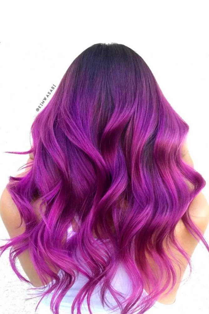 Bright Purple Hair #purplehair ❤️ When you think about purple hair, you migh...