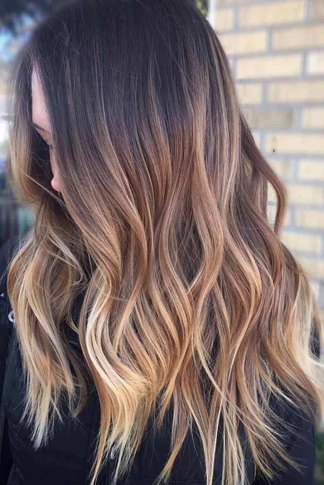 Brown To Dirty Blonde Reddish Ombre ❤️ See light brown hair color variations...