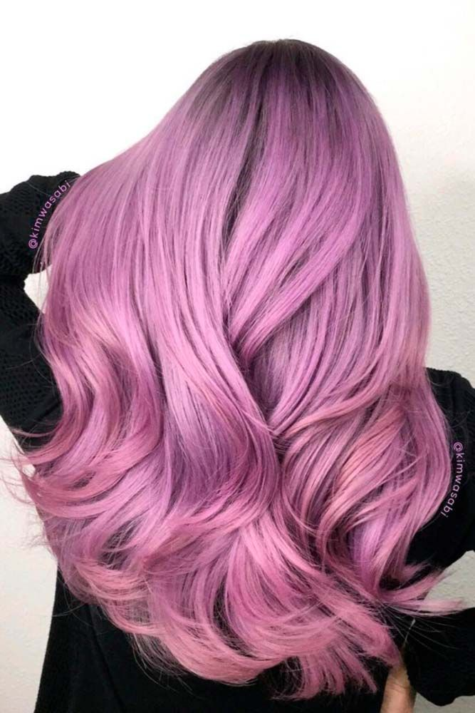 Candy Pink Purple Hair Color #purplehair ❤️ When you think about purple hair...