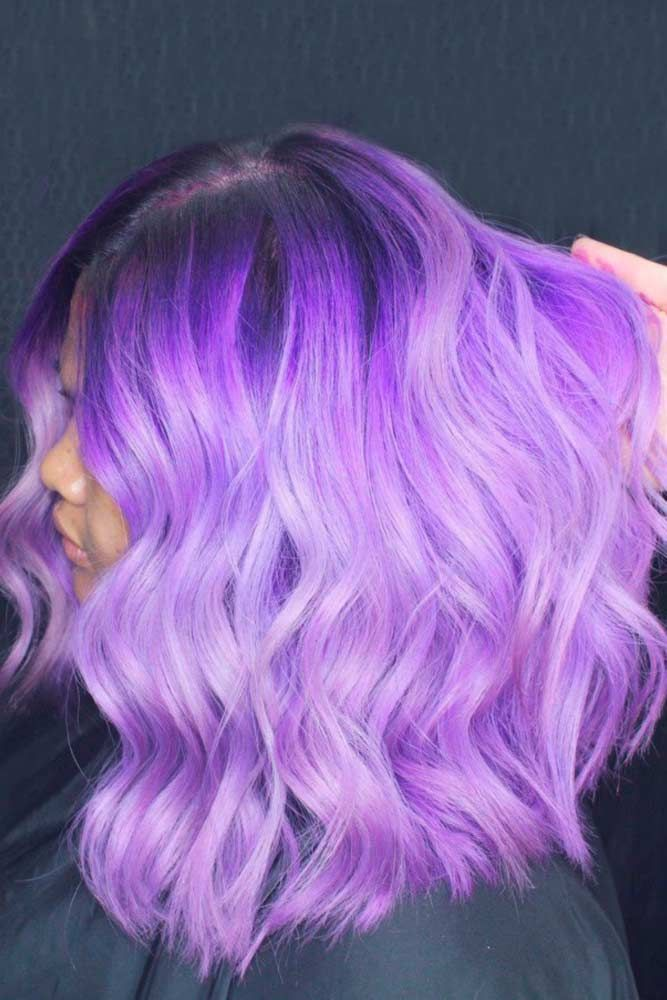 Candy Purple Hair Color Brunette #purplehair ❤️ When you think about purple ...