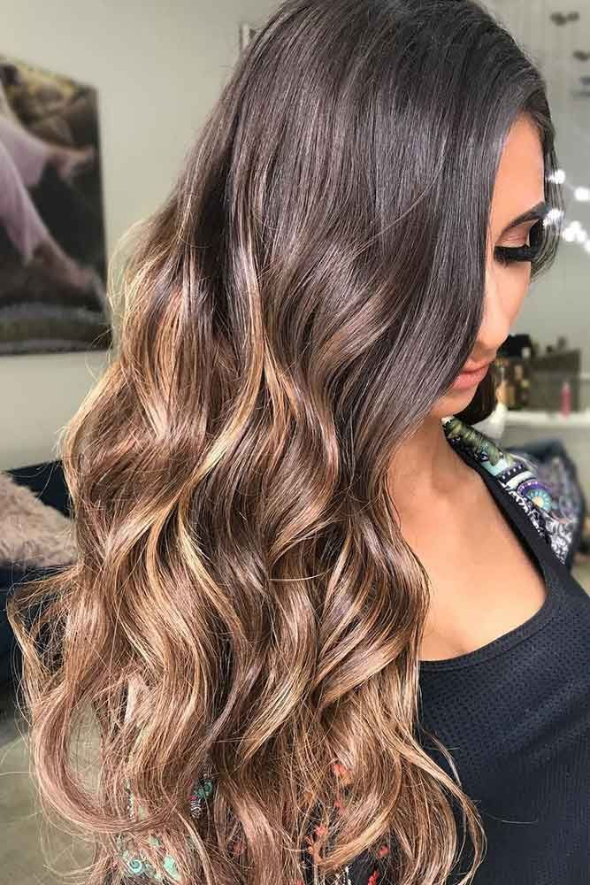 Caramel Brown Hair ❤️ Dark brown hair color looks very mysterious, and it'...