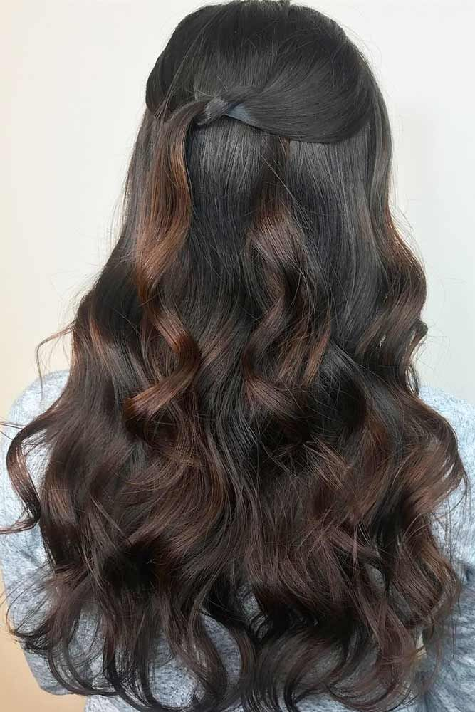 Chocolate Brown Hair Color ❤️ Dark brown hair color looks very mysterious, a...
