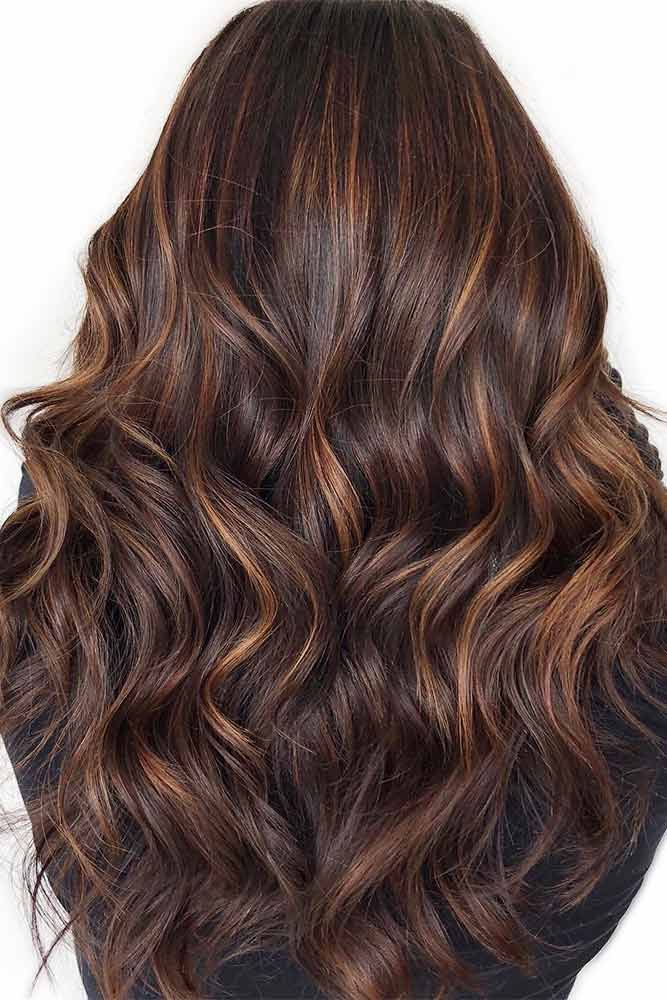 Chocolate Brown Hair Color Highlights ❤️ Dark brown hair color looks very my...