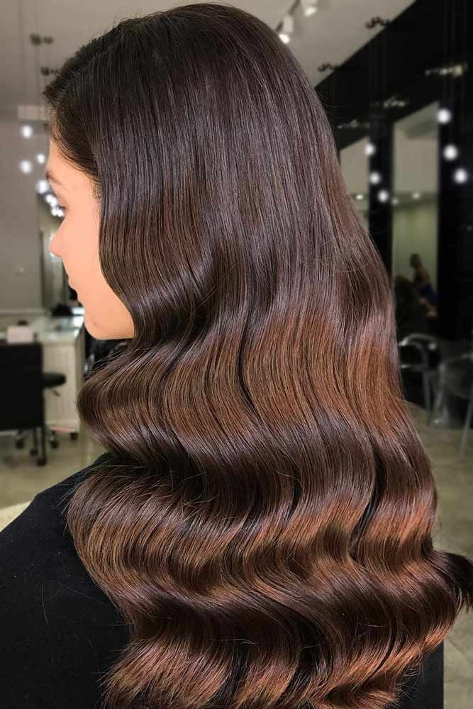 Dark Brown Balayage Hair ❤️ Brunette hair often gets a bad rap. However, the...