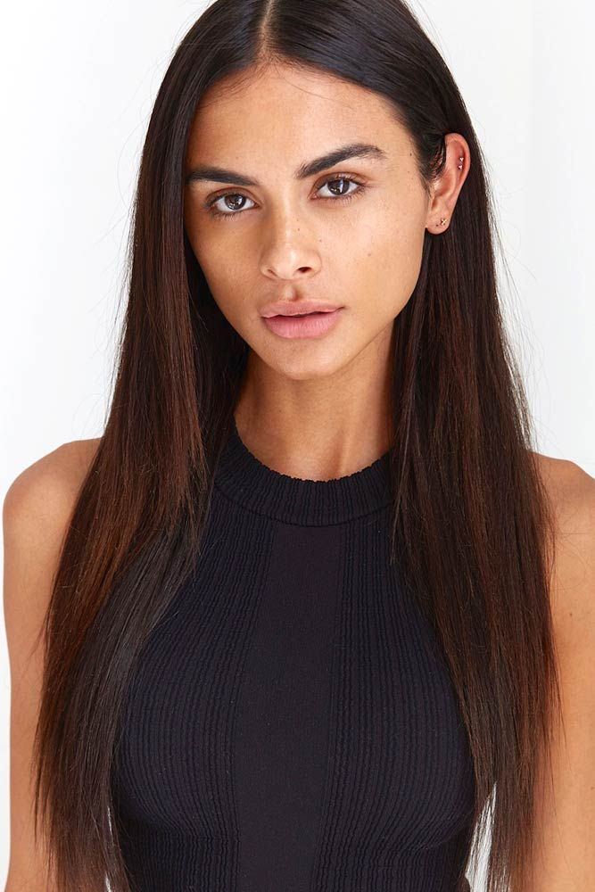 Dark Brown Straight Hair ❤️ Brunette hair often gets a bad rap. However, the...