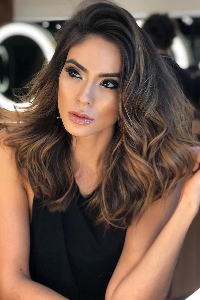 Dark Chocolate Brown Hair Ideas Highlights #wavyhair #brownhair ❤️ Brunette ...