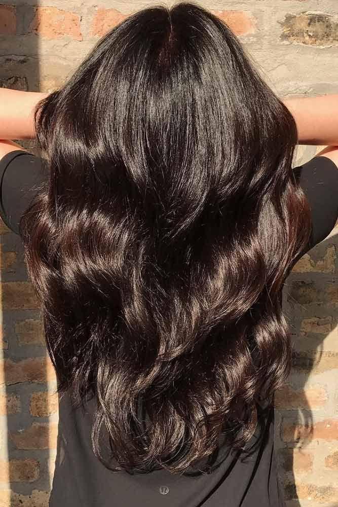Dark Chocolate Hair Color ❤️ Dark brown hair color looks very mysterious, an...