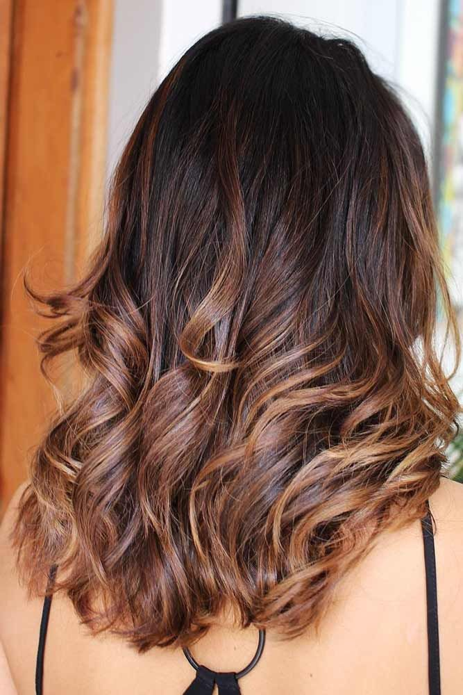 Dark Chocolate Hair With Caramel Ends Ombre #brunette #ombre ❤️ Upgrade your...