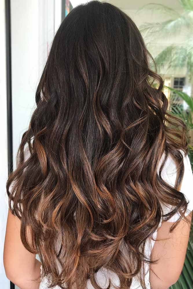 Dark Chocolate Hair With Caramel Ends #brunette #balayage ❤️ Upgrade your pl...