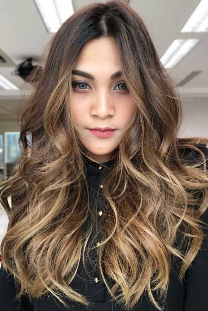 Dark To Light Brown Ideas Long #longhair #wavyhair #ombre ❤️ Brunette hair o...
