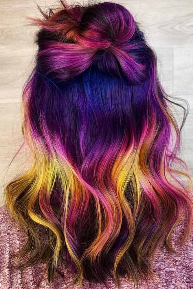 Hair Color 2017 2018 Dark Violet Unicorn Unicornhair Purplehair