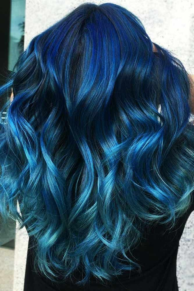 Denim Teal #tealhair #bluehair #balayage ❤️ What can compare to the gorgeous...