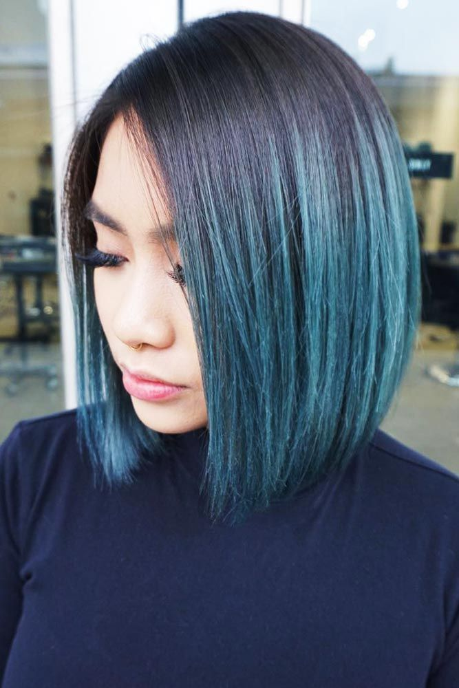 Dusty Teal #telahair #brunette #ombre ❤️ What can compare to the gorgeous ch...