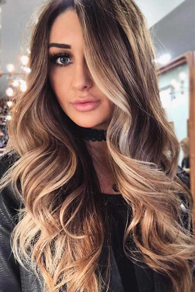 Face Framing Caramel Balayage For Brunette Hair ❤️ Brunette hair often gets ...