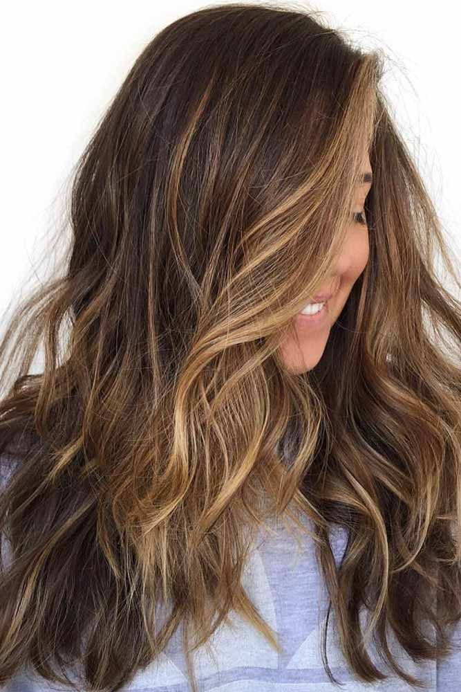 Face Framing Honey Balayage For Brunette Hair ❤️ Brunette hair often gets a ...