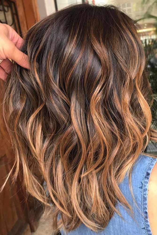 Glory Dark Brown Hair With Copper Hue Highlights #brownhair #highlights ❤️ D...
