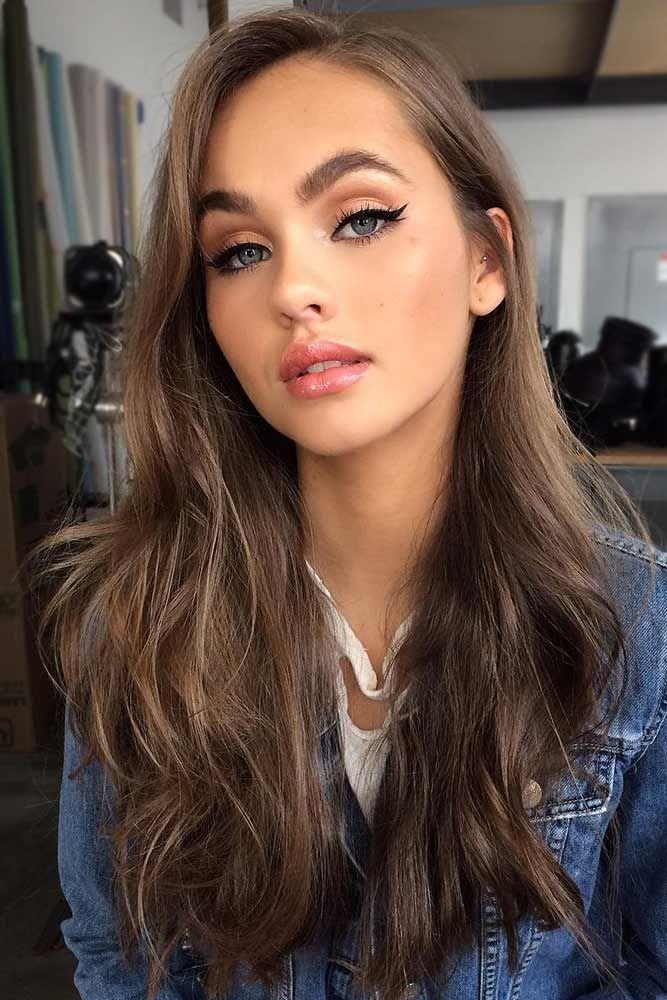 Light Brown Long Hair ❤️ Brunette hair often gets a bad rap. However, there ...