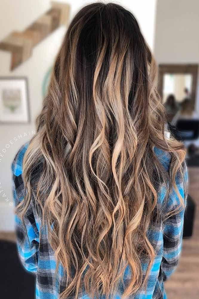 Light Brown To Blonde Balayage Black ❤️ See light brown hair color variation...