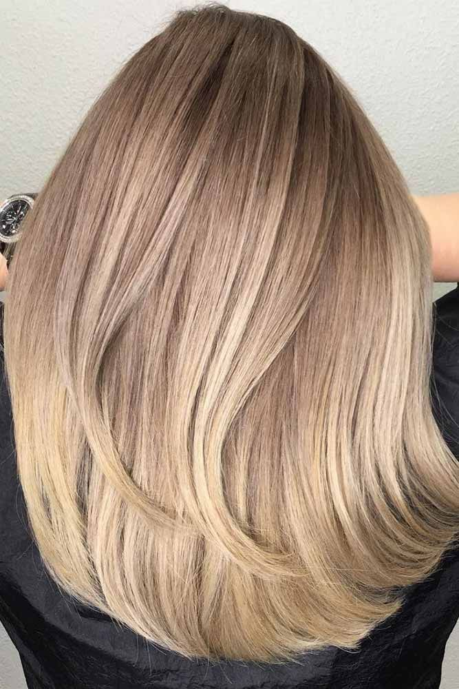 Natural Light Brown Ends ❤️ See light brown hair color variations that suit ...