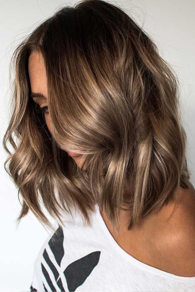 Natural Light Brown Highlights ❤️ See light brown hair color variations that...
