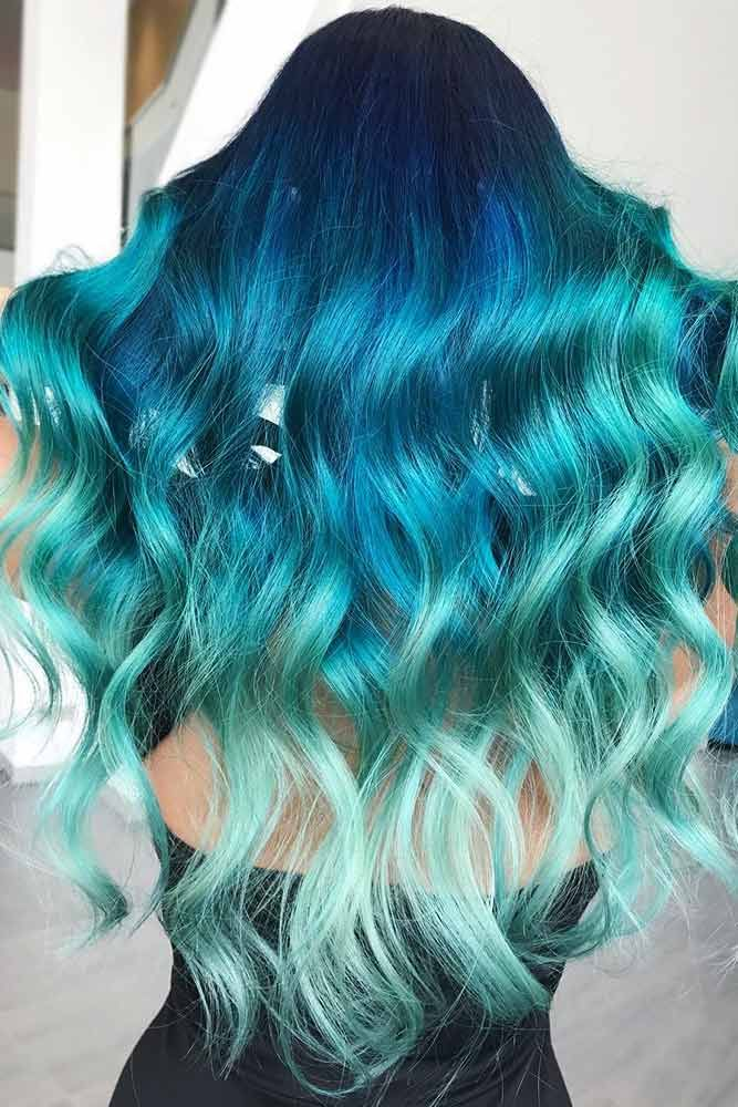 Ocean Blues #tealhair #bluehair ❤️ What can compare to the gorgeous charm of...