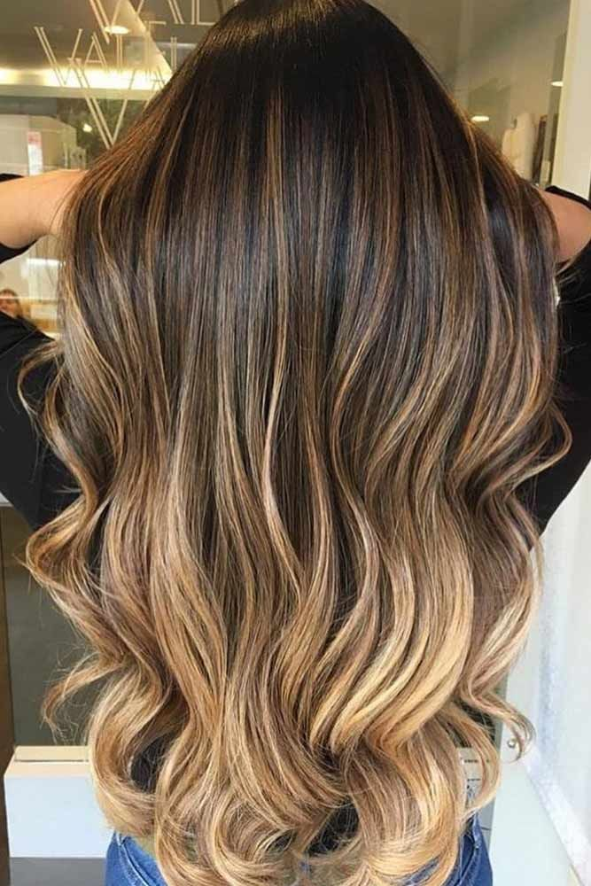 Ombre Hair Brown To Blonde #blonde #wavy Explore from short to medium to long br...